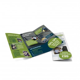 Tri-fold leaflet designed by SC Agency in Corby