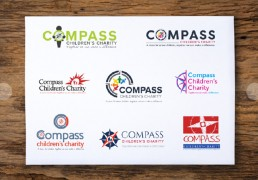 Brand logo development and logo design for a global childrens charity. Brand concepts and development to final logo was carried out by SC Agency graphic designers in Corby, Northamptonshire
