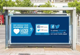 Social media management for a council funded project based in Corby - Love Corby. Social media management was carried out by advertising agency S.C. Agency in Corby near Oundle.