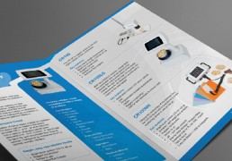 Internal pages of a company brochure S.C Agency designed for Senware a company located in Corby that manufacturers colour measurement machines for the food industry.